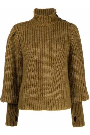 ULLA JOHNSON Chunky-knit roll-neck jumper