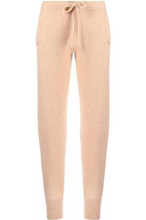 LANEUS Fine-knit drawstring sweatpants