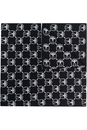 Moschino Double Question Mark-intarsia scarf