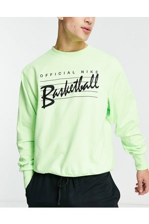 Nike Standard Issue crew sweat in lime