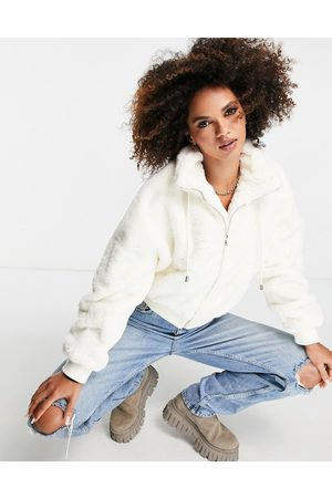Missguided Recycled faux fur bomber in