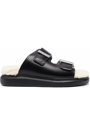 Alexander McQueen Women Sandals - Shearling lined sandals