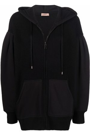 Twin-Set Panelled embroidered hoodie