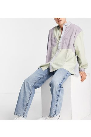 COLLUSION X005 straight leg jeans in vintage wash