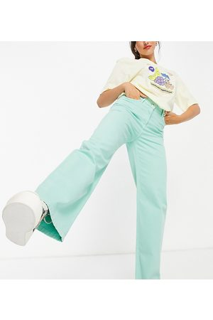 COLLUSION X014 90s baggy extreme dad jeans in mint