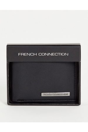 French Connection Classic bi-fold metal bar wallet in