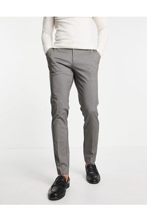 JACK & JONES Intelligence houndstooth trousers in slim fit