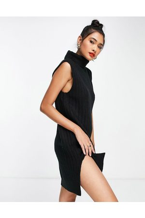 Y.A.S Sleeveless roll neck knitted dress in