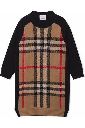 Burberry Check jacquard sweater dress