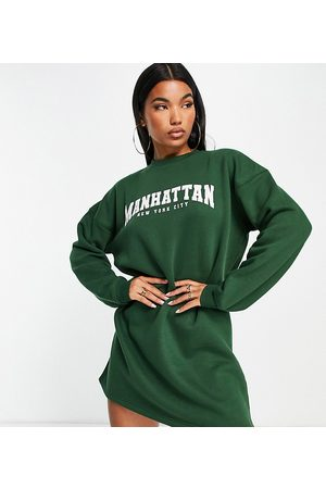 Missguided Manhattan graphic sweater midi dress in