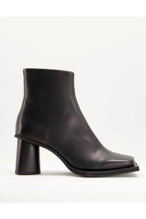 ASOS Heeled chelsea boot with extreme square toe and round heel in leather