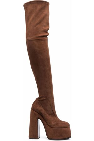 Casadei Suede thigh-length boots