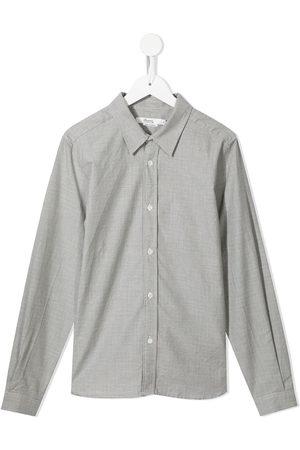 BONPOINT TEEN micro-houndstooth shirt