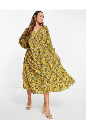 ASOS Trapeze midi dress in floral print