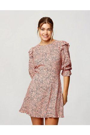 Miss Selfridge Long sleeve tea dress in marble print