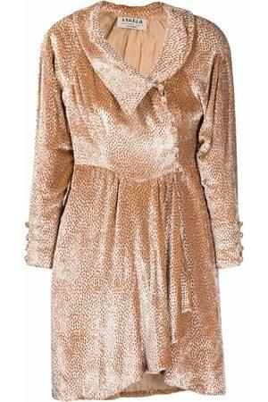 A.N.G.E.L.O. Vintage Cult 1980s velvet-textured patterned mini-dress
