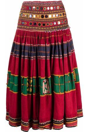 A.N.G.E.L.O. Vintage Cult Women Midi Skirts - 1970s mirror-detailing flared midi skirt
