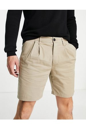 ASOS Chino cigarette shorts in -Neutral