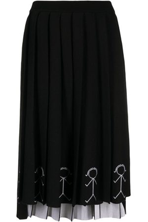 Thom Browne Embroidered pleated skirt