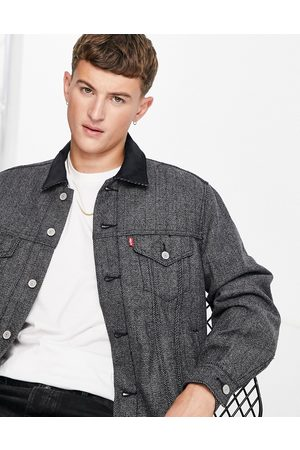 Levi's Levi's lined vintage relaxed fit herringbone trucker jacket in