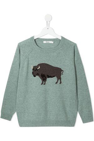 BONPOINT TEEN Bull-print jumper