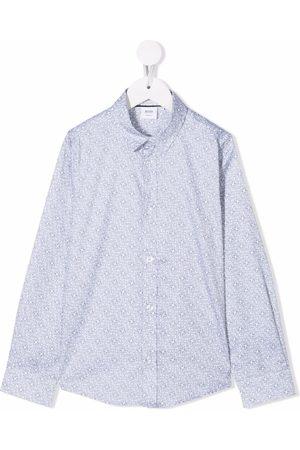 HUGO BOSS Boys Tops - Logo-print cotton shirt