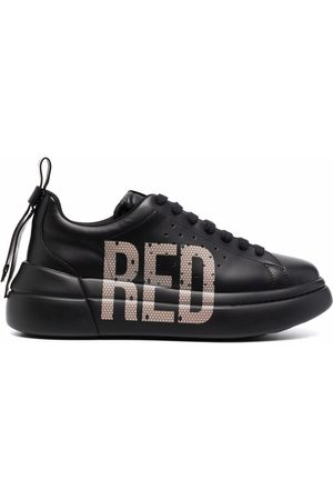 RED(V) Logo-print lace-up sneakers