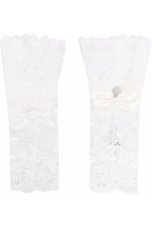 MONNALISA TEEN lace bow-embellished arm warmers