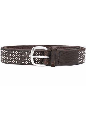 Orciani Men Belts - Stud-embellished leather belt