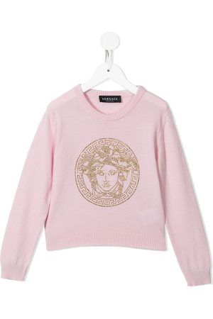 VERSACE Embellished-Medusa jumper