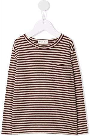 Babe And Tess Stripe-print T-shirt