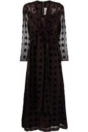 A.N.G.E.L.O. Vintage Cult 1970s polka dot pattern V-neck maxi-dress