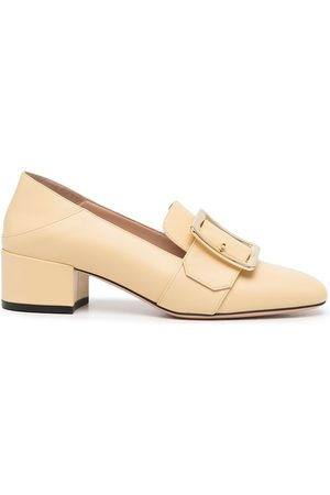 Bally Leather buckled pumps