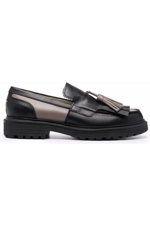 LORENA ANTONIAZZI Two-tone leather loafers