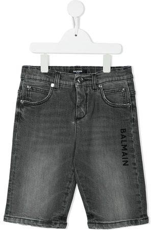 Balmain Logo-print denim shorts