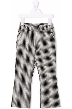 MONNALISA Houndstooth flared trousers
