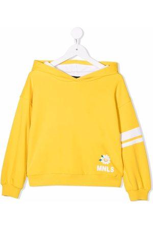 MONNALISA Floral-print rib-trimmed hoodie