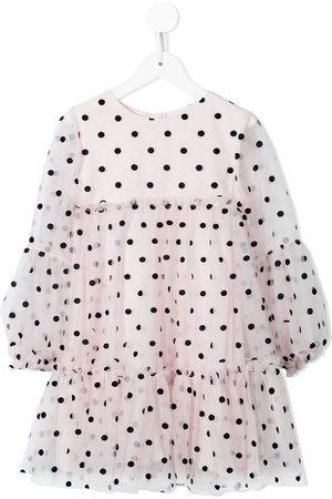 Charabia Polka dot-print tulle dress