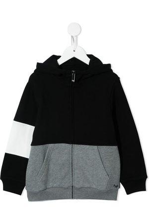 Il gufo Colour-block zip-up hoodie