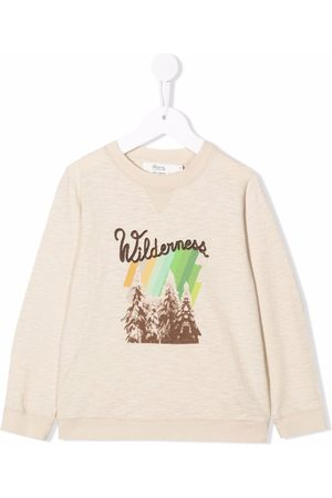 BONPOINT Boys Jumpers - Graphic-print cotton jumper