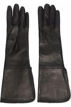 Manokhi Panelled leather gloves
