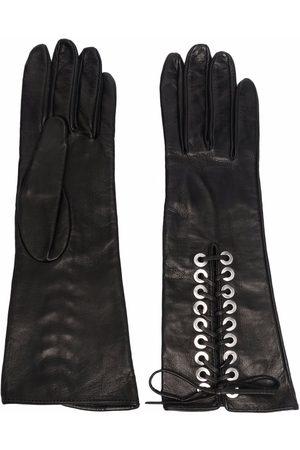 Manokhi Women Gloves - Lace-up leather gloves