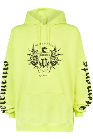 Vetements Men Sweatshirts - Label printed hoodie