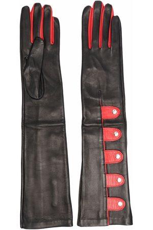 Manokhi Two-tone elbow gloves