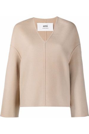Ami V-neck knitted top