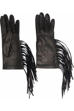 Manokhi Fringe leather gloves