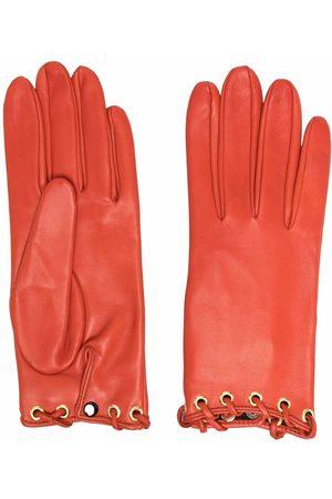 Manokhi Eyelet leather gloves