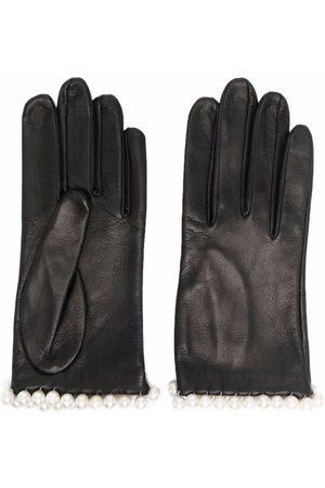 Manokhi Pearl leather gloves