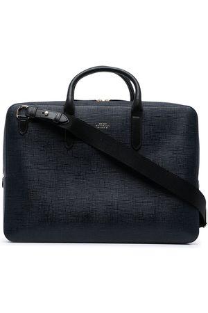 SMYTHSON Panama textured leather briefcase