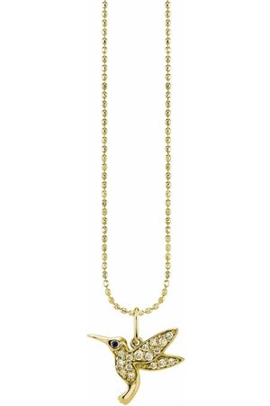 Sydney Evan Women Necklaces - 14kt yellow hummingbird diamond necklace